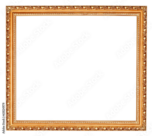 gilted baroque old wooden picture frame