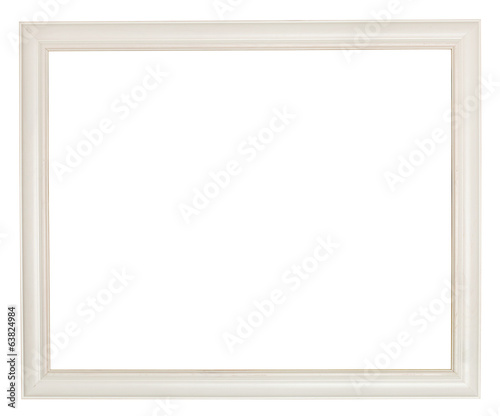 simple white painted wooden picture frame