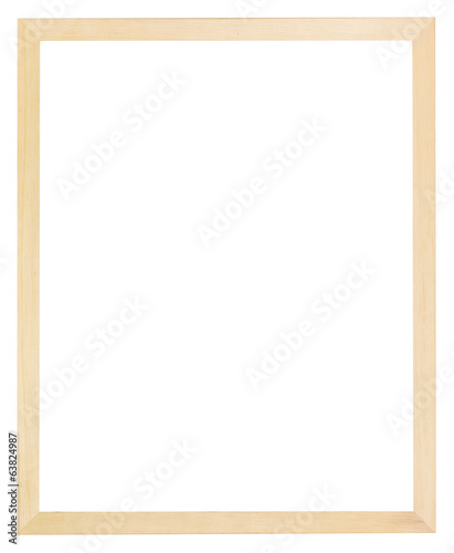 modern flat narrow simple light wood picture frame