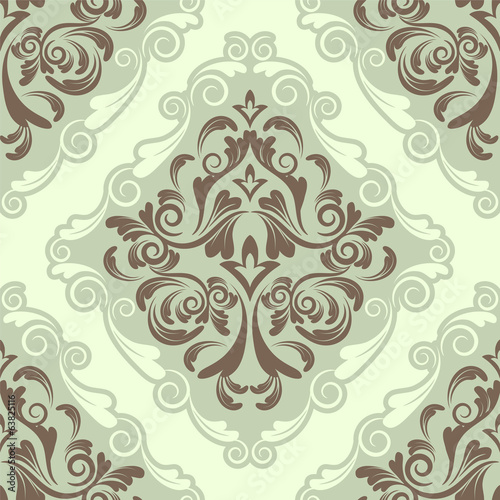 seamless background.damask pattern.invitation card