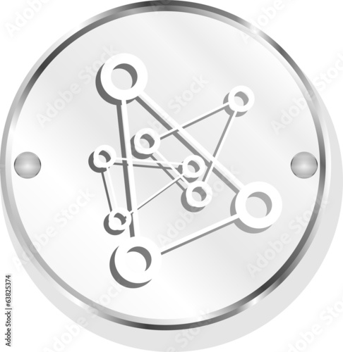 chemistry icon (button) isolated on white background