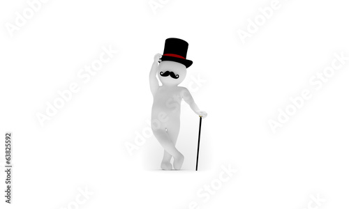 English gentleman with stick