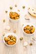 Spanische Tappas Hühnerbrust mit Oliven