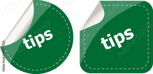 stickers label set business tag with tips word