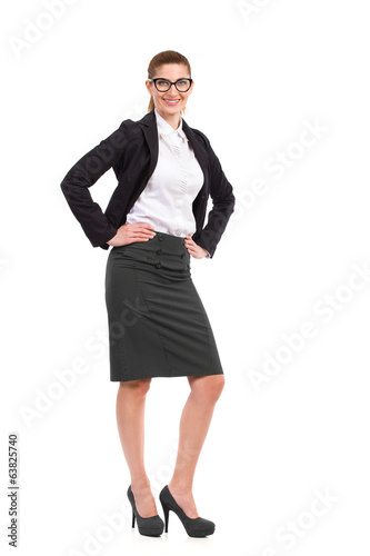 Businesswoman posing with hands on hip