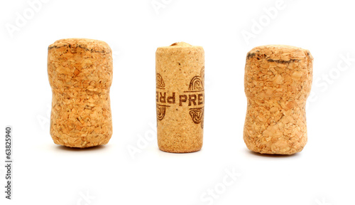 Corks from wine and champagne