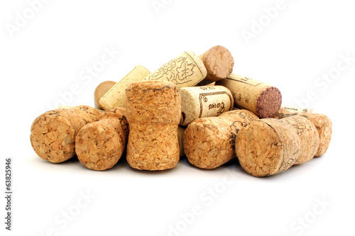 Corks from champagne and wine