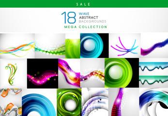 Mega sale - collection of wave backgrounds