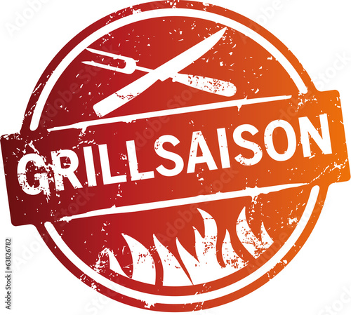 Button Grillsaison Orange