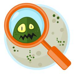 Germ in Petri plate
