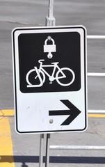 Bicycle locker sign