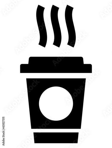Coffee to go vector icon