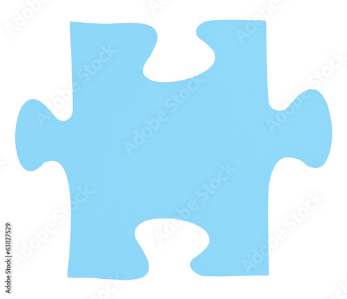 light blue piece of jigsaw puzzle
