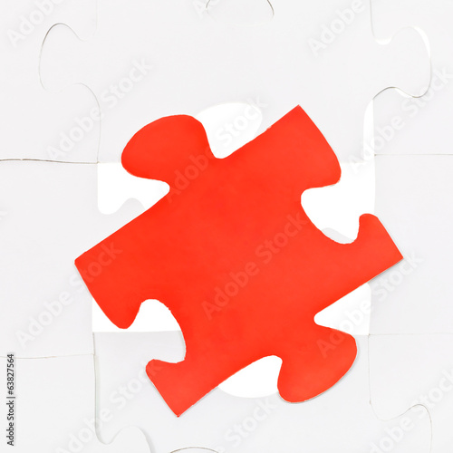red piece on free space of connected puzzles