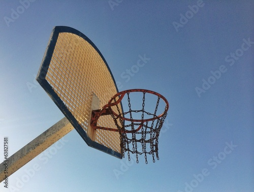 Basket from low point of view