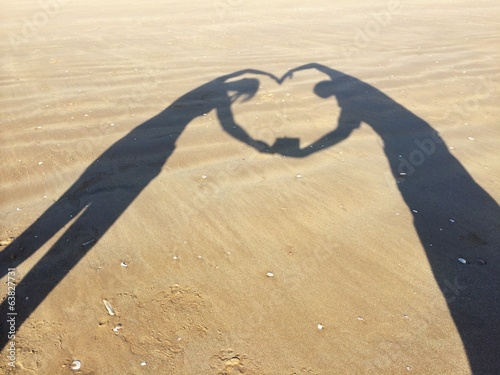 Love shape shadow