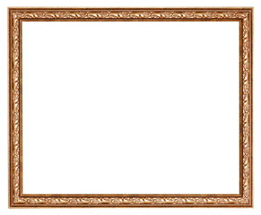 narrow baroque wooden picture frame