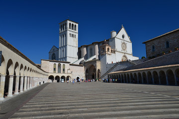 Front view of the Basilica of St. Francis of Assisi