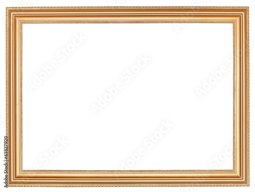 classic wide retro wooden picture frame - 63827920