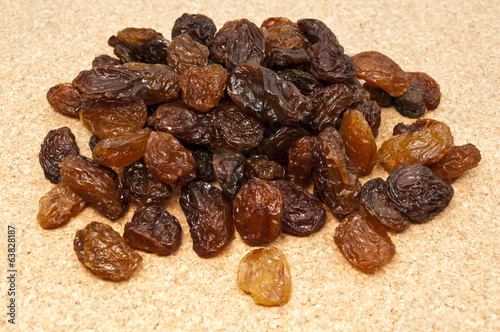 raisins on the table