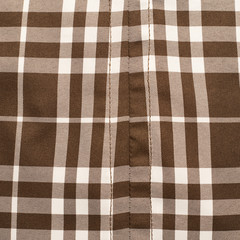 Plaid fabric cloth fragment