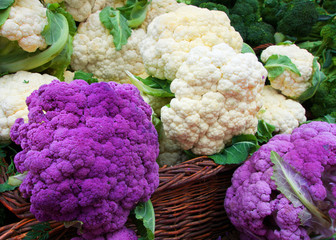 White and Purple Cauliflower