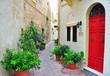 Colorful patio in Malta