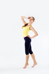 athletic young beautiful girl portrait full-length