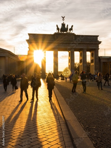 canvas print picture Berlin, Brandenburger Tor