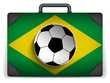 Brazil Travel Luggage with Flag for Vacation
