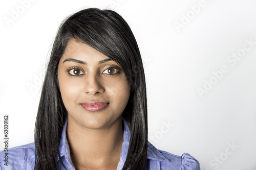 Beautiful Indian Woman In her work clothes