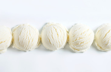 Scoops of white ice cream
