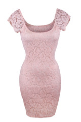 Simple pink lace dress