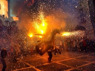 santa tecla festival in Tarragona, Spain