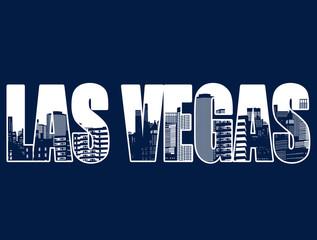 Contour of the city of Las Vegas