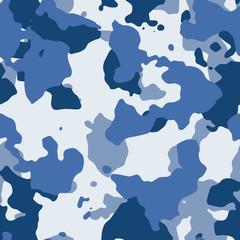 Blue seamless camo