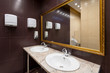 canvas print picture - Modern Public bathroom