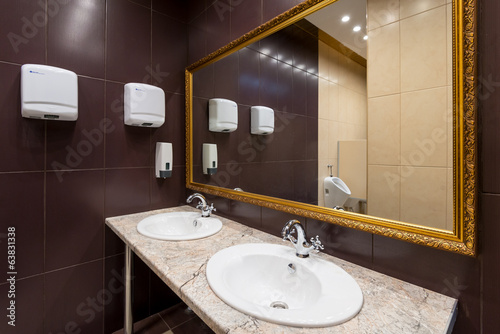 canvas print picture Modern Public bathroom