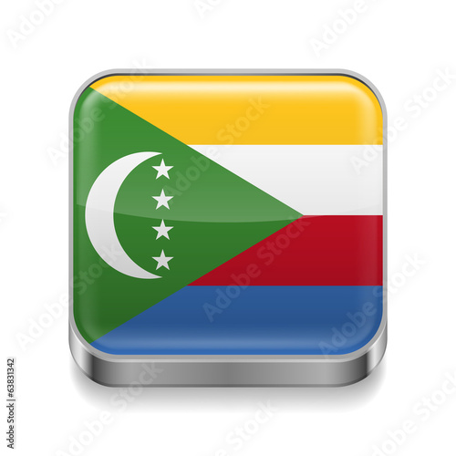 Metal  icon of Comoros