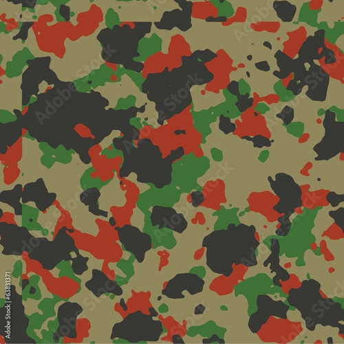 Red woodland seamless camo