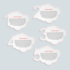 Abstract infographics number options.