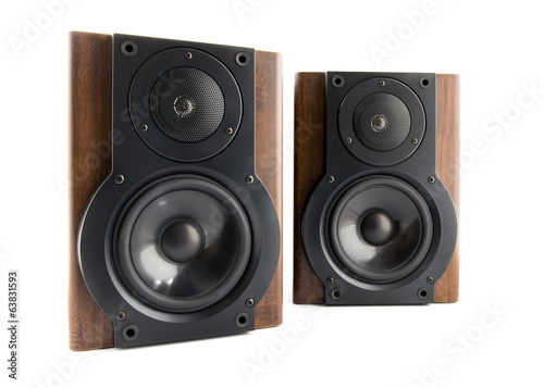 Pair of music speakers