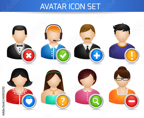 Social Avatar Icons Set