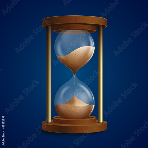 Retro hourglass clock background