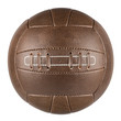 canvas print picture - brown retro soccer ball
