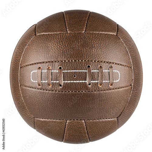 canvas print picture brown retro soccer ball