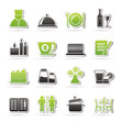Restaurant, cafe and bar icons- vector icon set