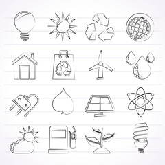 Ecology, nature and environment Icons