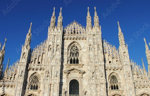 Facade of Milan cathedral, Italy