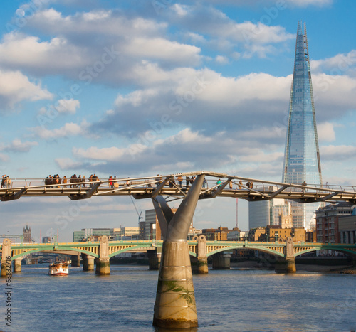 the shard and millennium bridge